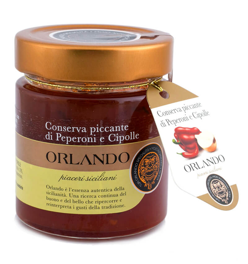 Orlando Conserva Piccante di Peperoni e Cippole